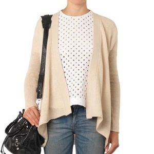 """DVF Cashmere Open Front """"Holland"""" Cardigan S"""